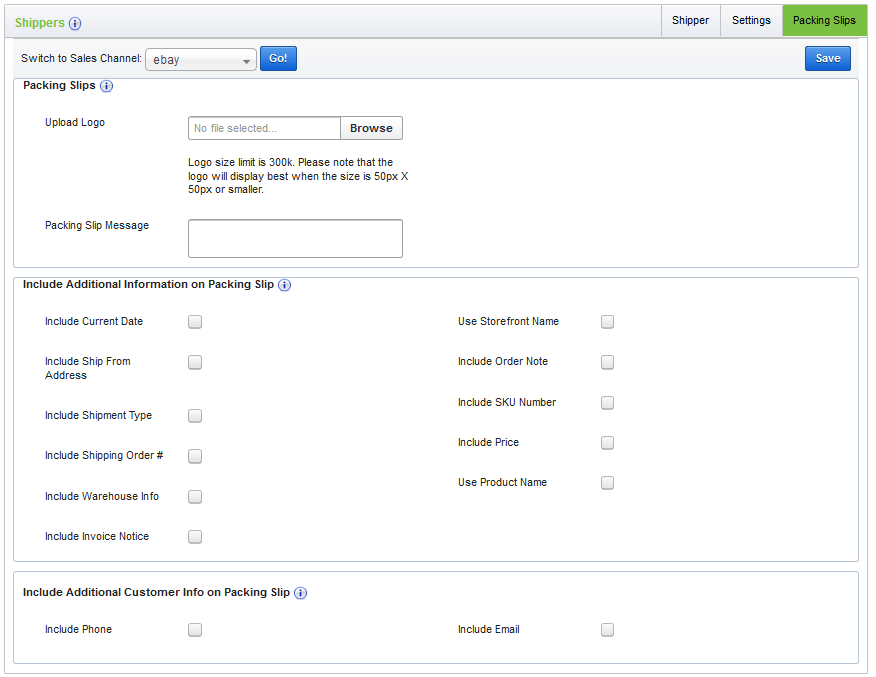 how to customize your packing slips ecomdash support
